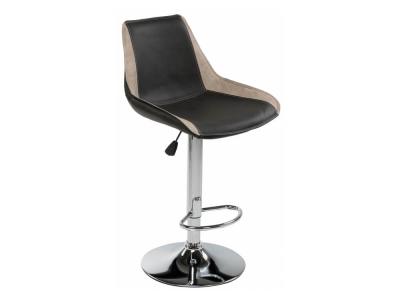Барный стул Kozi чёрный - серый