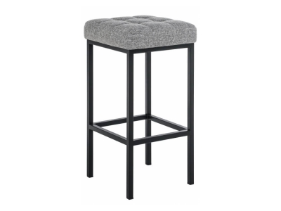 Барный стул Лофт рогожка графит - чёрный матовый