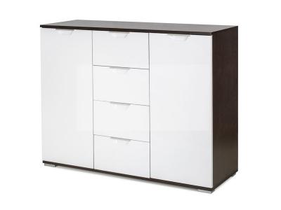 Комод Лайн-4 Венге/Белый глянец