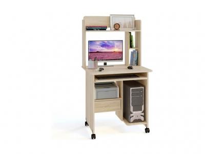 Компьютерный стол Сокол КСТ-10.1 c надстройкой Дуб Сонома