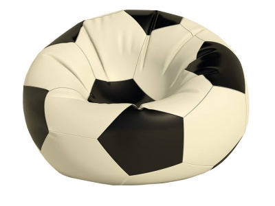 Кресло-мешок Мяч средний нейлон белый-черный