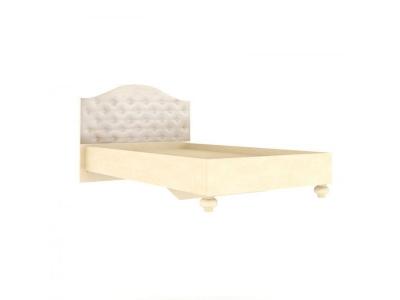 Кровать 1200 Александрия ЛД.510010.000 1340х1100х2080 Кожа Ленто