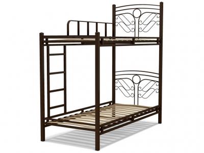 Кровать 90 Фантазия-2 2-х ярусная металлическая Венге