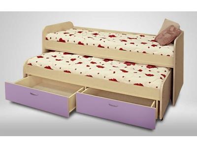 Кровать Антошка лиловая