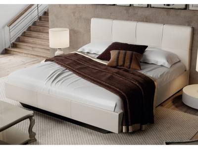 Кровать c мягкой обивкой тип 1 Элис Светлая