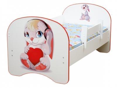 Кровать детская с фотопечатью без ящика Зайчата