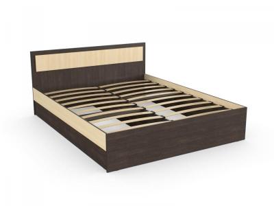 Кровать Дуэт 120 венге дуб с онованием