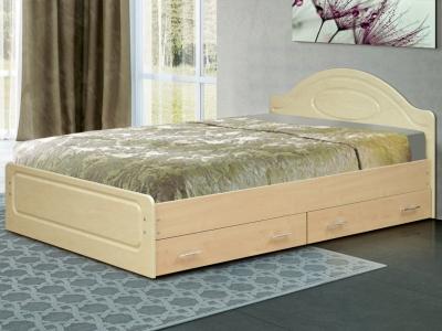 Кровать двойная Венеция 1 матовая с ящиками