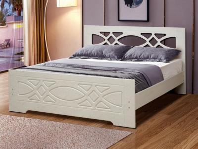 Кровать двойная Венеция 7 Ясень Анкор светлый