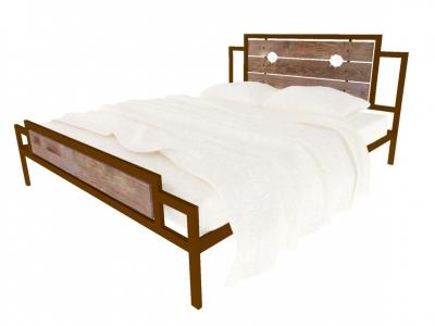 Кровать Инесса Plus коричневая