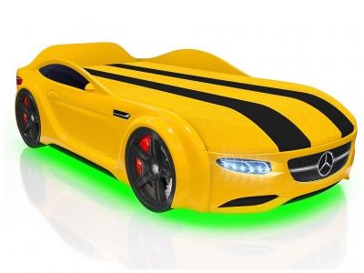 Кровать-машинка Romack Junior AMG желтая