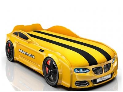 Кровать-машинка Romack Real-M X5 желтая