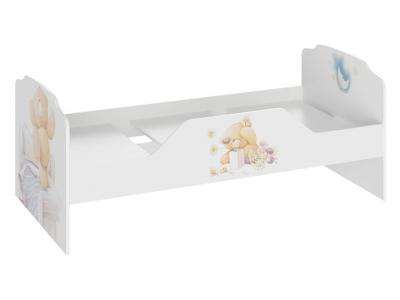 Кровать Тедди ТД-294.12.01 Белый с рисунком