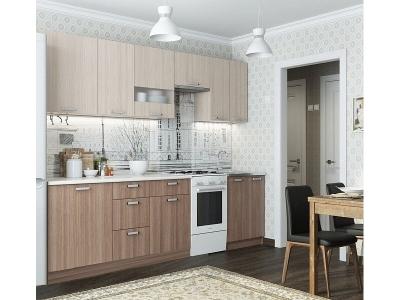 Кухня Розалия с доп. модулями 2100 Ясень Шимо Светлый-Темный