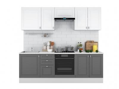 Кухонный гарнитур Ева 2400 Белый Софт-Графит