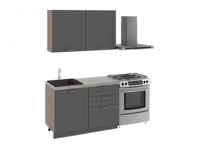 Кухонный гарнитур Одри 1,2 Серый шелк
