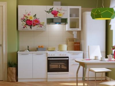 Кухонный гарнитур Риал Эко 1800 цветы