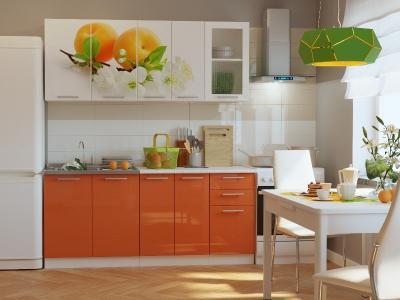 Кухонный гарнитур Риал K-59 Оранжевый 1800