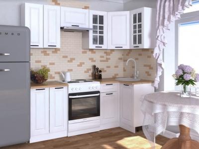 Кухонный гарнитур угловой Белый вегас 1000х2200