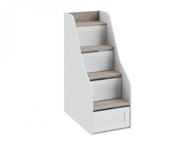 Лестница для двухъярусной кровати Ривьера ТД-241.11.12 Дуб Бонифацио, Белый