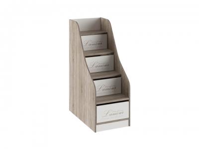 Лестница с ящиками Брауни ТД-313.11.12 Бежевый с рисунком, Дуб Сонома трюфель