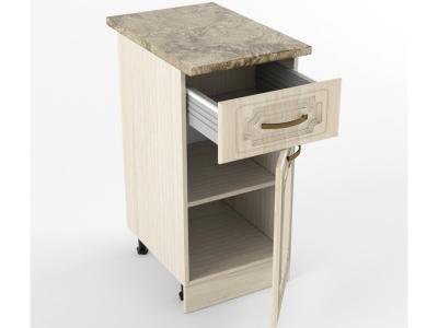 Нижний шкаф Н 400 1 ящик 1 дверь 850х400х600 Грецкий орех