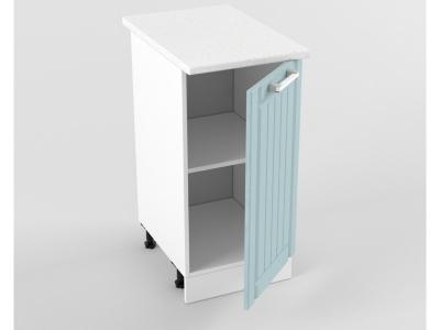 Нижний шкаф Н 400 850х400х600 Прованс Роялвуд голубой