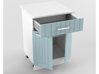 Нижний шкаф Н 600 1 ящик 2 двери 850х600х600 Прованс Роялвуд голубой