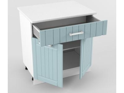 Нижний шкаф Н 800 1 ящик 2 двери 850х800х600 Прованс Роялвуд голубой