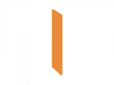 Панель боковая декоративная верхняя ПБд-В_60 Бьюти Оранж