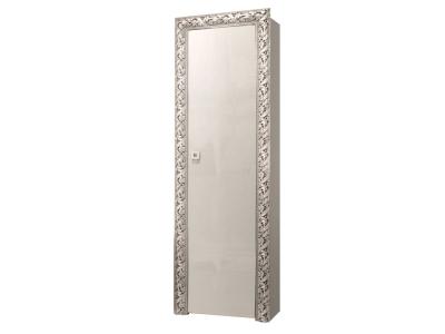Пенал 1-но дверный левый/правый ТФП-1(П) Тиффани Премиум Слоновая кость серебро