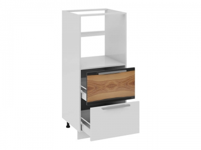 Шкаф комбинированный под быт. тех. с 2 ящиками КБ2я_132(72)-60_2Я Фэнтези Вуд
