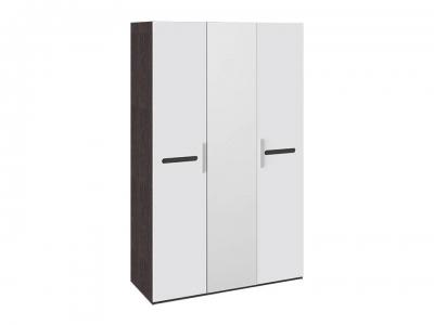 Шкаф комбинированный с 3 дверями Фьюжн ТД-260.07.43 Белый глянец, Венге Линум