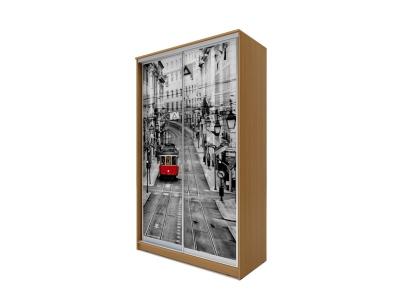 Шкаф-купе Хит 2-х дверный Лондон Бук Бавария светлый