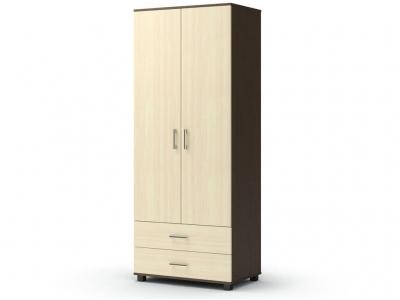 Шкаф Максим 2-2 с ящиками Венге - Дуб млечный