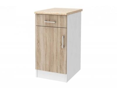 Шкаф напольный 40 со столешницей Уют СТЛ.275.03 Белый-Дуб сонома
