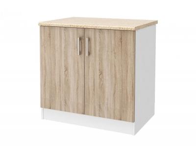 Шкаф напольный 80 со столешницей Уют СТЛ.275.04 Белый-Дуб сонома