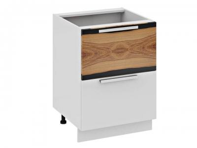 Шкаф напольный с 2 ящиками и 1 внутренним Н2я1(Т)_72-60_2Я Фэнтези Вуд