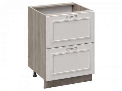 Шкаф напольный с 2 ящиками Н2Я(Т)_72-60_2Я Сабрина