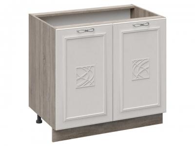 Шкаф напольный с декором Н_72-90_2ДР(Д) Сабрина