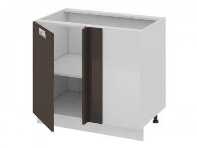 Шкаф напольный с планками для формирования угла левый Н_72-90_1ДРпУ(Б) Бьюти Грэй