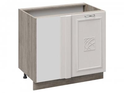 Шкаф напольный с планками для формирования угла с декором Н_72-90_1ДР(Д)пУ Сабрина
