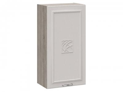 Шкаф навесной c декором В_96-50_1ДР(Д) Сабрина