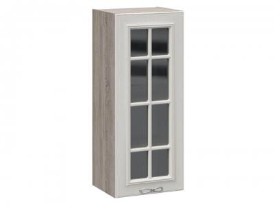 Шкаф навесной cо стеклом В_96-40_1ДРс Сабрина