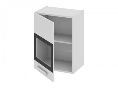 Шкаф навесной со стеклом левый В_60-45_1ДРс(А) Фэнтези Белый универс