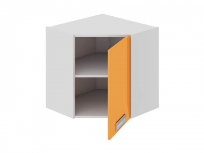 Шкаф навесной угловой 45 правый ВУ45_60-(40)_1ДР(Б) Бьюти Оранж