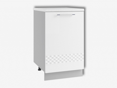 Шкаф нижний 500мм стол рабочий левый С 850х500мм МДФ белый Капля