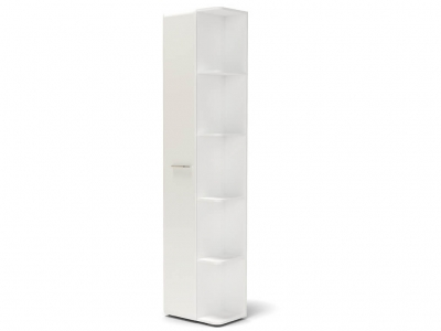 Шкаф Офелия с угловым элементом Белый - МДФ Топлёное молоко