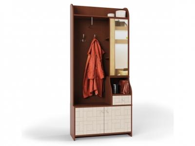 Шкаф-прихожая Восток 8 комбинированный венге-конго/дуб выбеленый