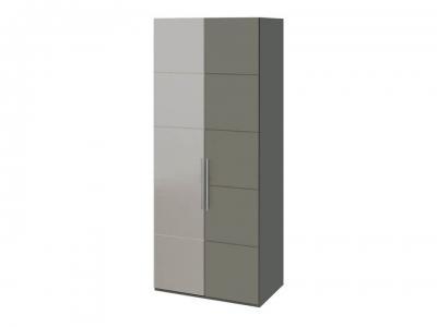 Шкаф с 1 глух. и 1 зерк. левой дверями Наоми СМ-208.07.04 L Серый, Джут